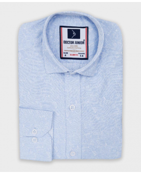 Boys Floral Patterned Slim Fit Shirt in Light Blue picture