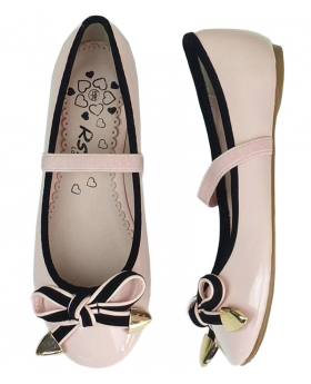 Girls Pink Occasion Flat Shoes