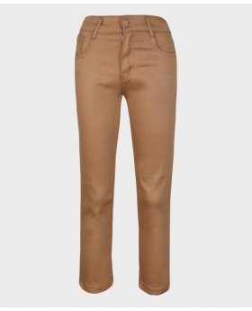 Flamingo Boys Brown Slim Fit Casual Dress Suit Chino Trousers