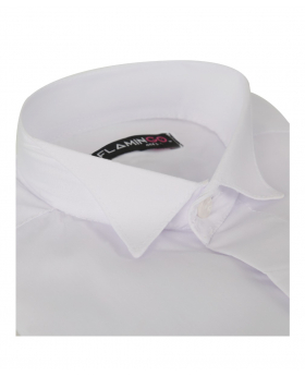 Flamingo Boys Double Cuff Wing Collar Wing Shirt with Cufflinks