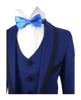 Boys Premium Flamingo Special Occasion Suit - Blue & Navy - Benigno
