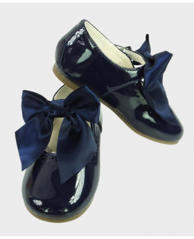 Flower Girls Navy Blue Formal Occasion Wedding Shoe