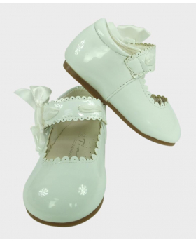 Flower Girls Shoes in White for Party Wedding Communion
