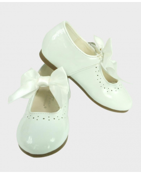 Flower Girls White Formal Occasion Wedding Shoe