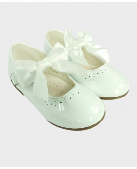 Flower Girls White Formal Occasion Wedding Shoes-Pair