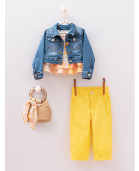 Girls 6 Piece Colourful Casual Set for Spring and Summer front Picture