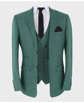 Green Formal Blazer Jacket Open Picture