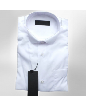 Boys Wing Collar Shirt in White front picture