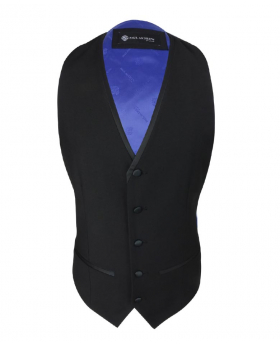 Men Formal Single-Breasted Waistcoat in Black front picture
