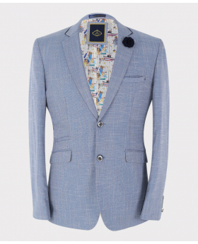 Mens BlazerSlim Fit Check Set Sold Separately in Light Blue front Picture