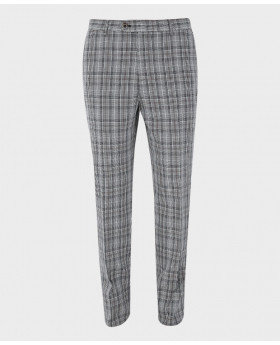 Mens Trousers Skinny Fit Tweed  Check in Grey front picture