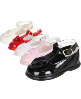 Girls Occasion Shoes - Hard Sole (Soft Rubber) Various Colors