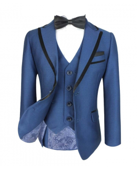 Boys Exclusive Slim Fit Tonic Blue Tuxedo Dinner Suit by Romano
