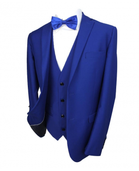 Paul Andrew Mens Royal Blue Tailored Fit  Suit