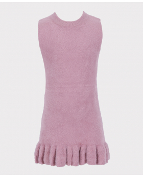 Sleeveless Dress in Pink Front Picture