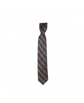 Boys Plaid Neckties Kids Formal Checkered Ties In Black And Red
