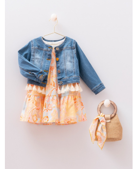 Toddler Baby Girls Paisley Print  4 Piece Summer Dress 