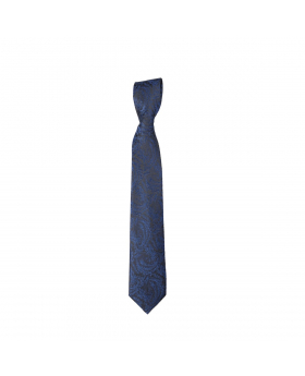 Boys Paisley Neckties Kids Formal Ties In Navy And Black