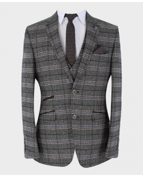 Tweed Blazer Jacket with accessories front Picture