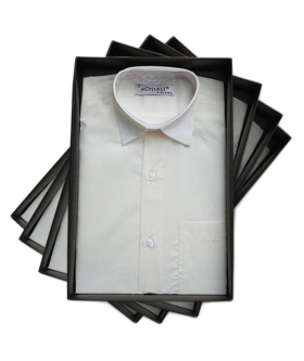Pageboys Long Sleeve Classic Collar Ivory Shirt front picture