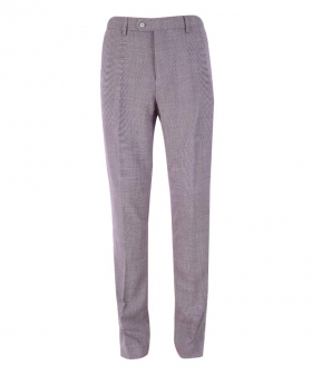 Front view of the Men's Miami Lilac Stretch Slim Fit Smart Trousers