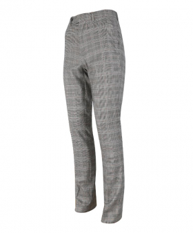 Mens  Trousers Slim Fit Vintage Check in Dark Grey side picture