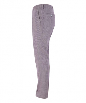 Side view of the Men's Miami Lilac Stretch Slim Fit Smart Trousers