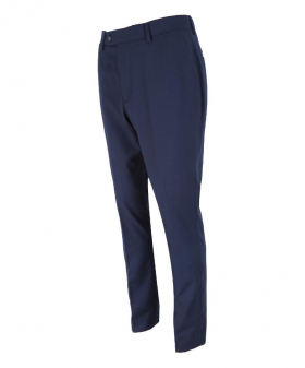 Side view of the Men's Slim Fit Navy Blue Formal Trousers