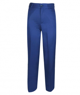 Front view of the Boys Formal Blue Suit Trousers