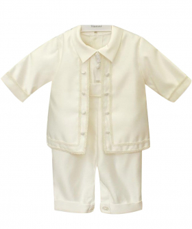Romano Vianni Baby Boys All In One Christening Suit in Ivory