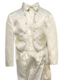 Baby Boys 6 Piece ivory Christening Suit Baptism Outfit 0 to 24 Months