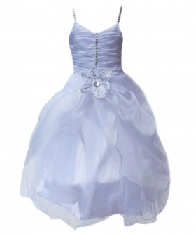 White Flower Girls Dresses, Christening Party Prom Wedding Dresses