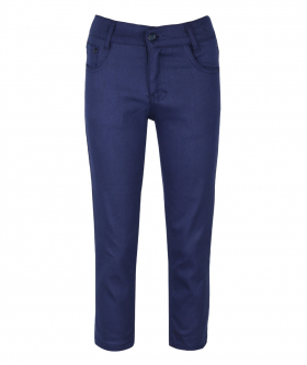 Parliament Blue Casual Stretch Boys Chino Pants