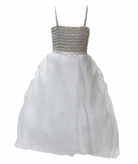 Ivory Flower Girl Dresses, Ruffled Christening Dress