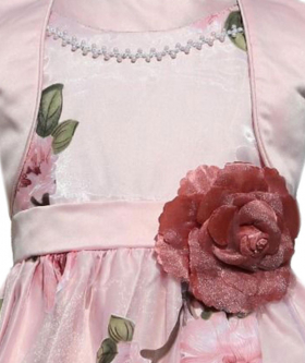 Flower Girls Dress with Bolero - Pink
