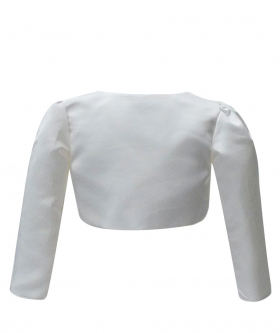 Back view of the Long Sleeves Bolero for Girls in Ivory