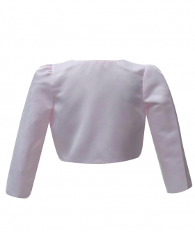 Back view of the Long Sleeves Bolero for Girls in Pink