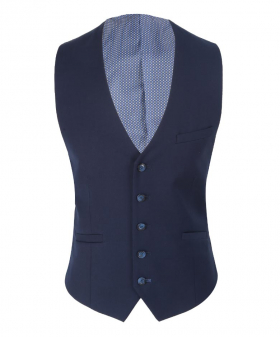 Men's Navy Blue Formal Waistcoat view from front