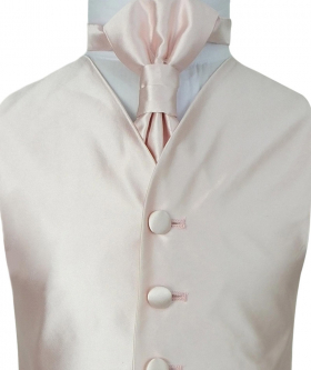 Romano Vianni Boys Pink Satin Waistcoat & Adjustable Cravat Set