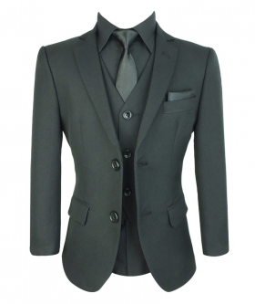 Boys All In One Wedding Suit Set in Black