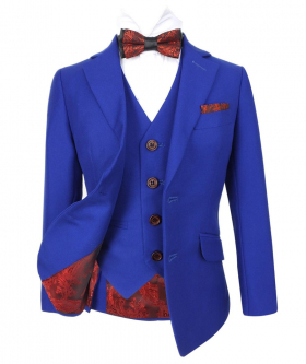 Romano French Royal Blue Slim Fit Suit