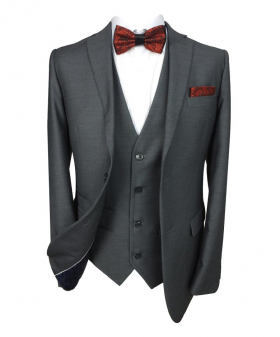 Paul Andrew Mens Grey Tailored Fit Classic Suit