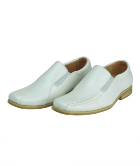 Boys Ivory Slip On Communion Shoes