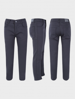 Boys Casual Stretch Boys Chino Pants in Charcoal Grey three side pictures
