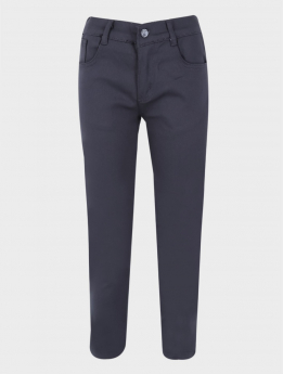 Boys Casual Stretch Boys Chino Pants in Charcoal Grey Front picture