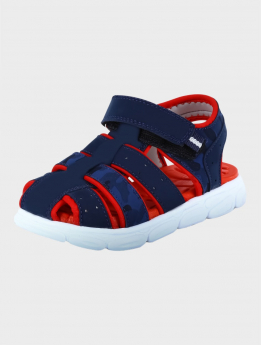 Baby Boys Outdoor Summer Sandals in Navy Blue  front detail  picture