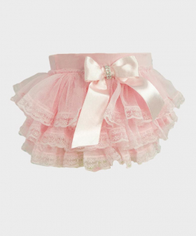 Baby Girl Lace Knickers in Pink Details picture