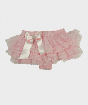 Baby Girl Lace Knickers in Pink Side picture