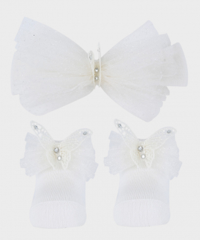 Baby Sock Wedding Communion Accessories Set in Ivory