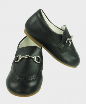Boys Black Formal Special Occasion Shoes Pair